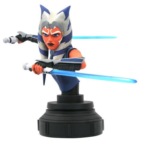 PRE-ORDER: Diamond Select Star Wars The Clone Wars Ahsoka Tano 1:7 Scale Mini-Bust
