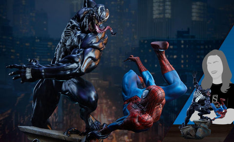 PRE-ORDER: Sideshow Collectibles Spider-Man vs Venom Maquette