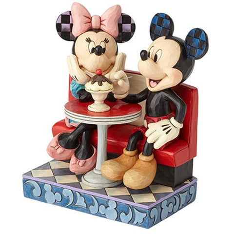 Enesco: Disney Traditions Mickey and Minnie Mouse at Soda Shop Love Comes in Many Flavors by Jim Shore
