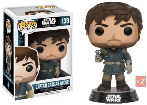 Funko Pop! Star Wars: Rogue One Captain Cassian Andor #139 *New In Box* - collectorzown