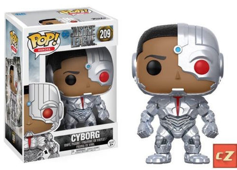 Funko Pop! Heroes DC Justice League Cyborg #209 - collectorzown