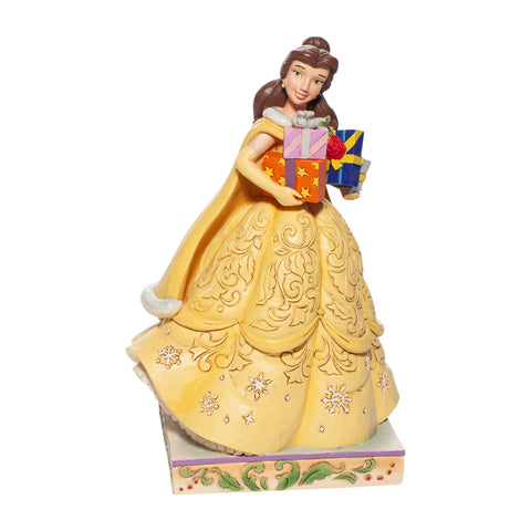 Enesco Disney Traditions Christmas Belle Statue