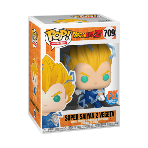 Funko Pop! Animation: Dragon Ball Super Saiyan 2 Vegeta #709 PX Previews Exclusive