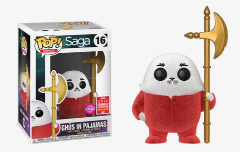 Funko Pop Comics: Saga Ghus In Pajamas #15 Flocked 2018 Summer Convention Exclusive - collectorzown