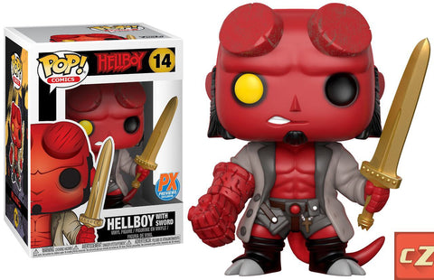Funko Pop! Comics: Hellboy with Excalibur #14 Previews Exclusive *New In Box* - collectorzown