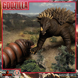 PRE-ORDER: Mezco Toyz 5 POINTS XL Godzilla: Destroy All Monsters (1968) Round 1 Boxed Set