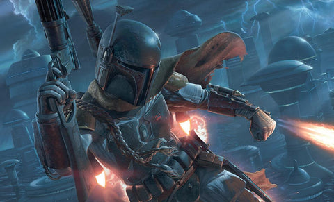 PRE-ORDER: Vanderstelt Studio Boba Fett The Mercenary Art Print