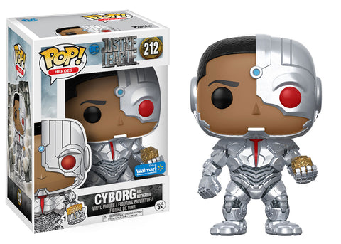 Funko Pop DC: Justice League Cyborg with M. 212 Walmart Exclusive - collectorzown
