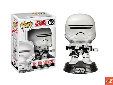Funko Pop! Star Wars: The Last Jedi First Order Flametrooper #68 *New In Box* - CollectorZown