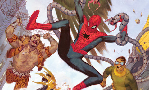 PRE-ORDER: Sideshow Collectibles Spider-Man vs Sinister Six Art Print