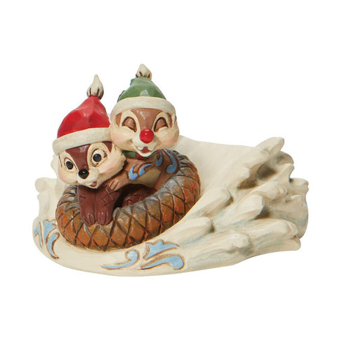 PRE-ORDER: Enesco Disney Traditions Chip n' Dale Sledding Saucer Statue