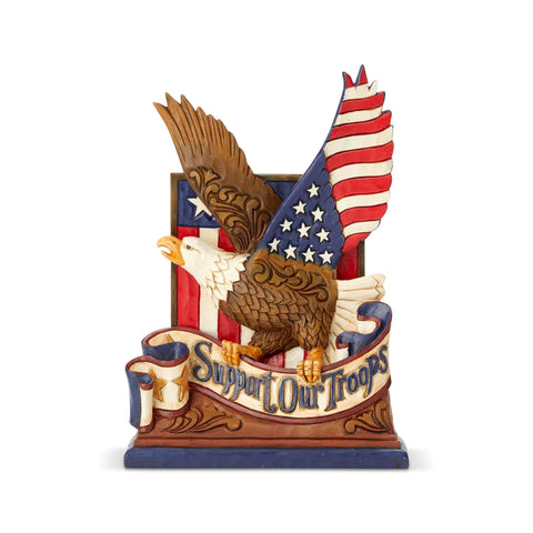 PRE-ORDER: Enesco Jim Shore Support Our Troops Eagle Statue