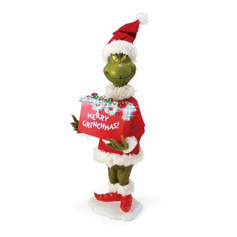 PRE-ORDER: Enesco The Grinch Merry Grinchmas Figurine