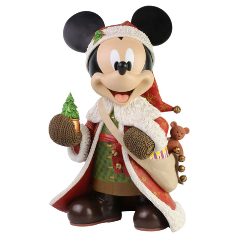 Enesco Disney Showcase Santa Mickey Mouse Big Fig Statue