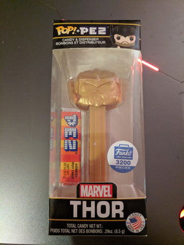 Funko Pop Pez Marvel 10th Anniversary Gold Thor Funko Shop Exclusive LE 3200 Pez Dispenser