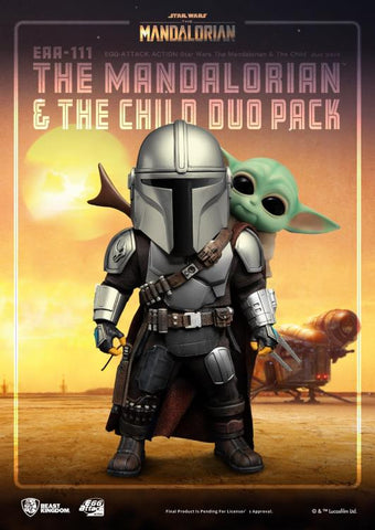 PRE-ORDER: Beast Kingdom Star Wars: The Mandalorian and The Child Duo EAA-111 Action Figure Set