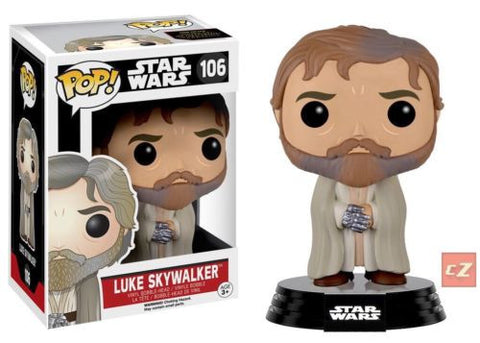 Funko Pop! Star Wars: The Force Awakens Luke Skywalker (Beard) #106 *New In Box* - CollectorZown