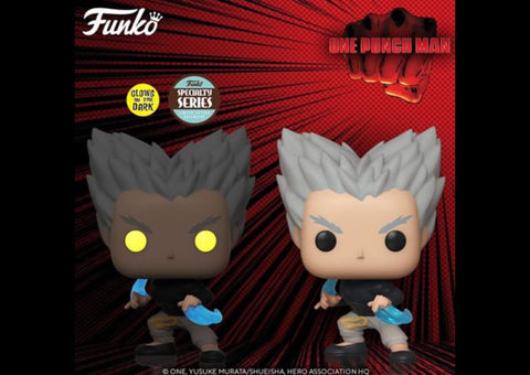 PRE-ORDER: Funko Pop! Animation: One Punch Man Garou Flowing Water GITD Specialty Series Exclusive