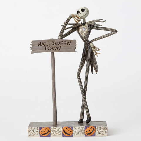 Enesco: Disney Traditions Jack Skellington Welcome to Halloween Town Statue
