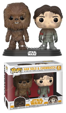 Funko Pop Star Wars: Han and Chewbacca 2-Pack Smuggler's Bounty Exclusive - collectorzown