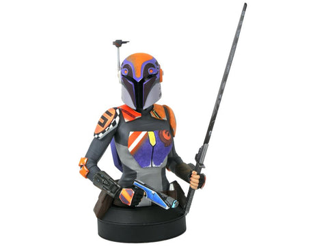 PRE-ORDER: Diamond Select Star Wars Rebels Sabine Wren 1:6 Scale Bust