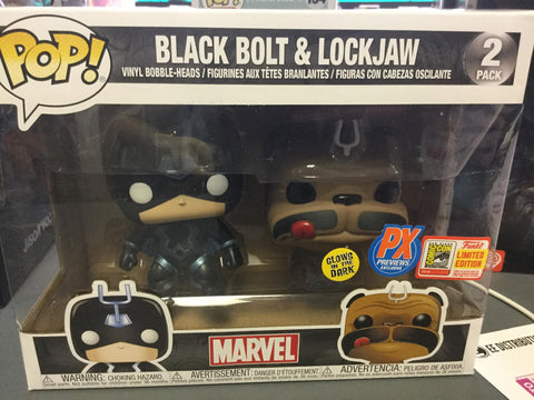 Funko Pop! Marvel: Black Bolt & Lockjaw 2pk Px Previews SDCC Limited Edition