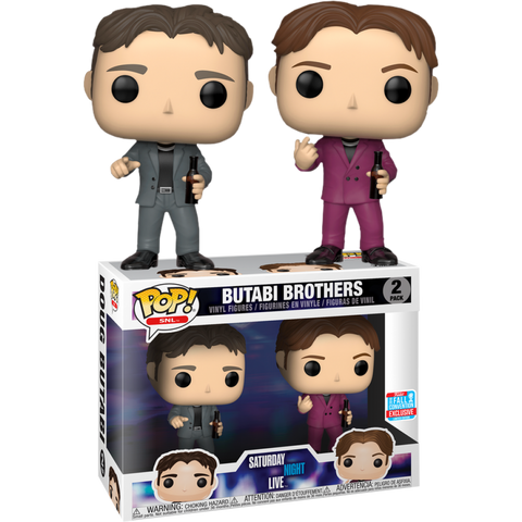 Funko Pop! SNL Butabi Brothers 2-Pack Fall Convention Exclusive