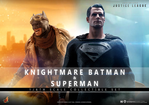 PRE-ORDER: Hot Toys Zack Snyder Justice League Knightmare Batman and Superman Sixth Scale Figure Set