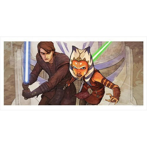 Acme Archives Star Wars: The Clone Wars Ahsoka & Anakin Whatever Is Required Lithograph Art Print