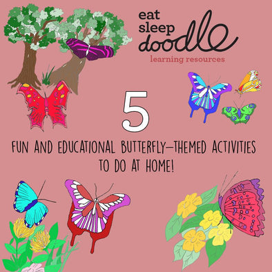 5 fun and educational butterfly-themed activities to do at home!