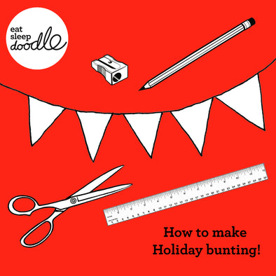 How to make Holiday bunting!