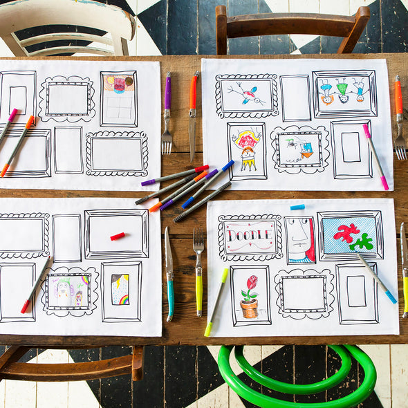 color in placemats for kids