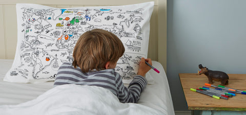 the world map pillowcase to color in