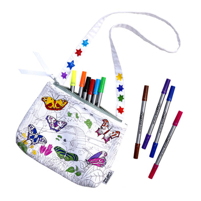 colour-in butterfly bag gift