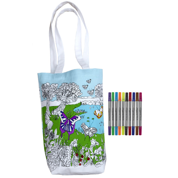 coloring bag with washable markers