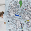 world map print duvet