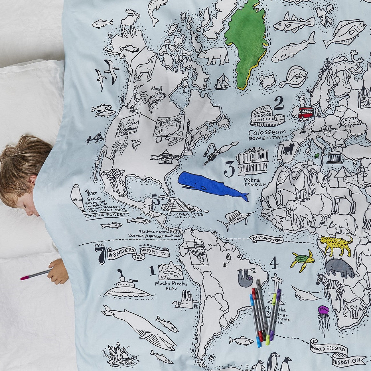 Colour learn world map cotton duvet twin eatsleepdoodle usa color and learn world map duvet cover twin gumiabroncs Image collections