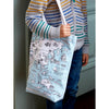 world map canvas bag