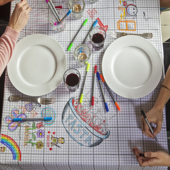 doodle customisable cotton tablecloth