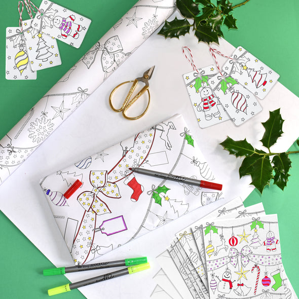 color-in Holiday craft set