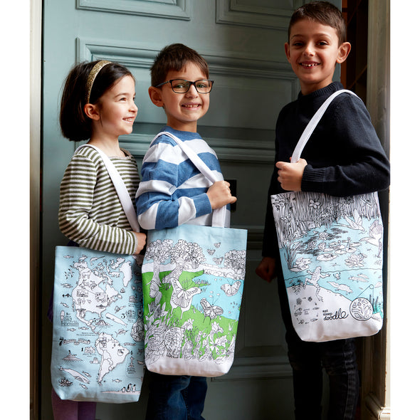 eatsleepdoodle washable school shopper bags