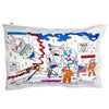 cotton space themed pillowcase