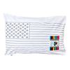 cotton pillowcase with washout markers US map