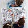 state map pillowcase for kids