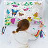 color in butterfly pillowcase
