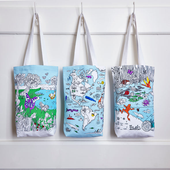 color & carry tote bags
