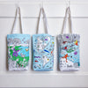eatsleepdoodle cotton tote bag shopper to color