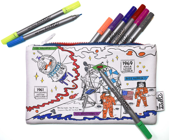 color & learn pencil case