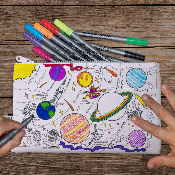 space themed pencil case for kids