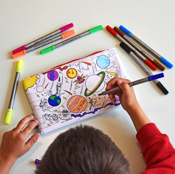 coloring space pencil case